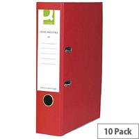 red colour lever arch file