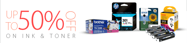 up to 50% Off on Ink & Toner