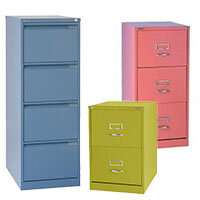 Funky Coloured Filing Cabinets