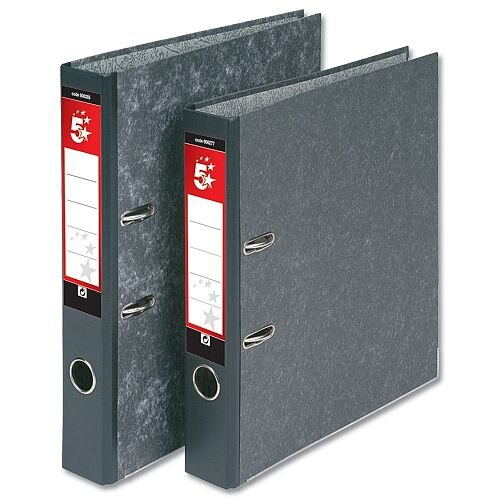Cloudy grey lever arch file