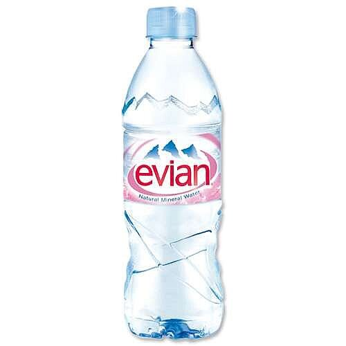 Evian Mineral Still Water 500ml Bottle Pack 24