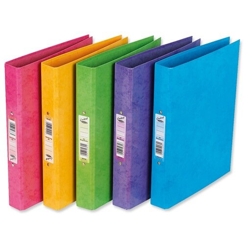 A4 Pink Ring Binder Laminated O-Ring And Dividers Capacity