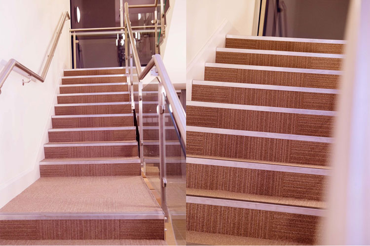 1E Office Fitout in Dublin City by HuntOffice Interiors Stairs