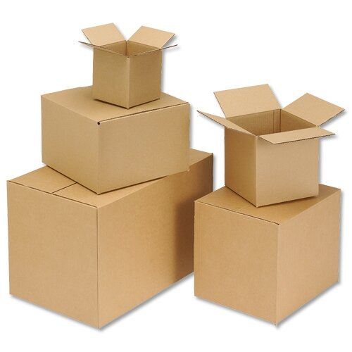 Cardboard Packing Box Double Wall Strong Flat-packed Internal Size 305x229x229mm Pack 15 Ambassador HuntOffice.co.uk