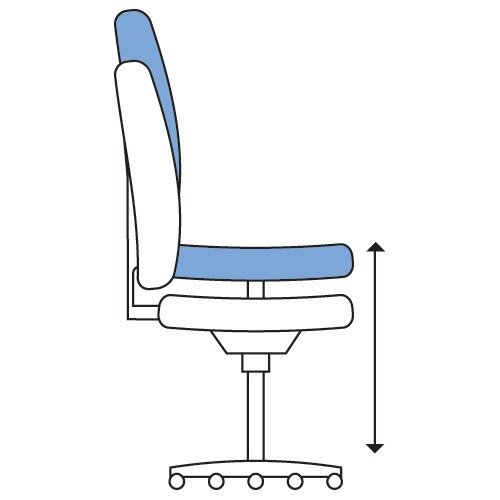 LightUp Modern Design Mesh Office Chair With Lumbar Support