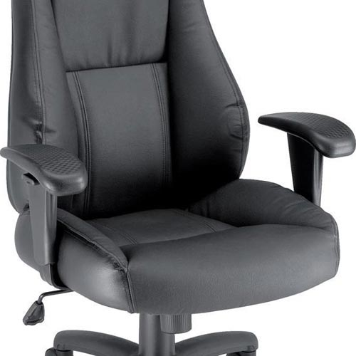 Charming Trexus Hampshire Black Leather Manager Office Armchair With Adjustable Arms