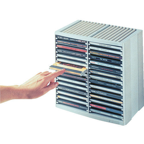 Fellowes Cd Storage Case 30 Disks Grey