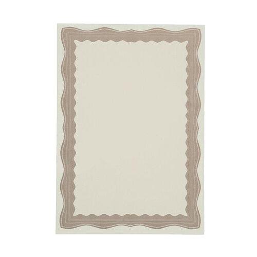 bronze certificate paper