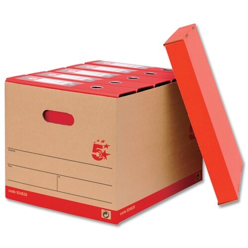 Lever Arch Files Archive Storage Box A4 Brown 10 Pack 5 Star  sc 1 st  Hunt Office UK & Lever Arch Files Storage Box A4 Brown 10 Pack 5 Star - Huntoffice.co.uk