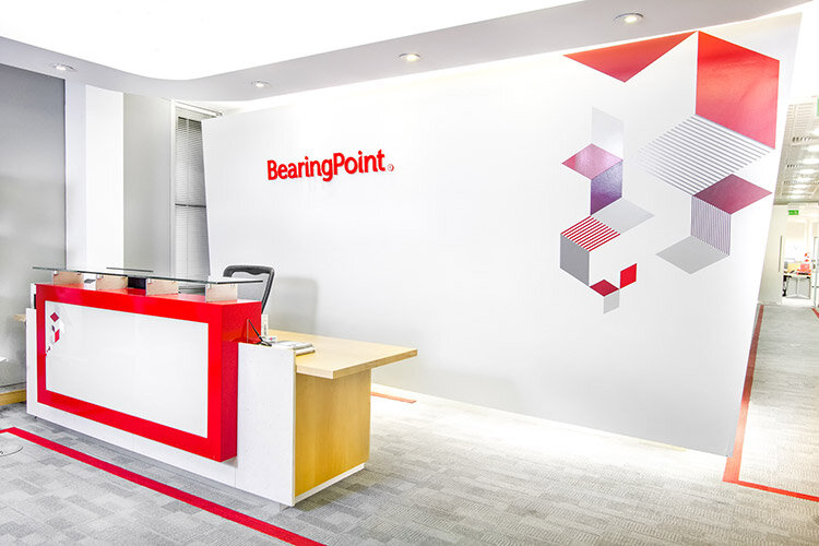 Bearing Point Office fitout in Dublin - Reception  Area