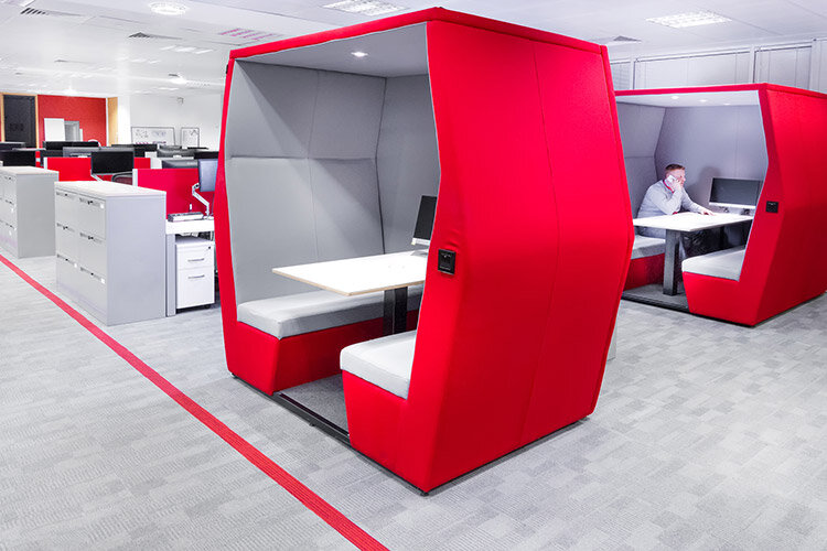 Bearing Point Office refurbishment by Huntoffice Interiors - Meeting Pods