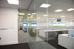 Amazon Phase 1 Office Fitout by HuntOffice Interiors Partitioning