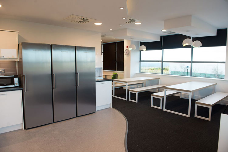 Canteen Amazon Contact Centre in Cork Office Fitout Project By Huntoffice Interiors