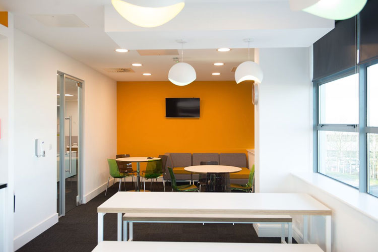 Amazon Contact Centre in Cork Office Fitout Project: Breakroom