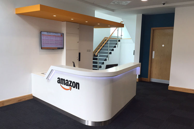 Amazon Contact Centre in Cork Office Fitout Project: Reception Area