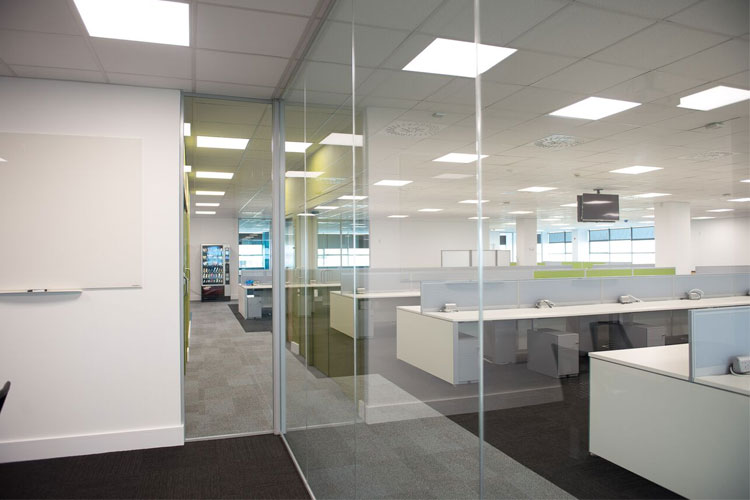 Amazon Contact Centre in Cork Office Fitout Project: Partitioning