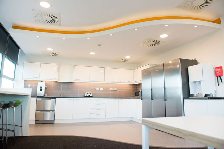Amazon Contact Centre in Cork Office Fitout Project: Canteen