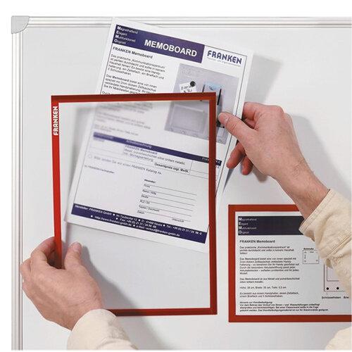 Franken Document Holder Magnetic Din A4 5 Pieces Blue