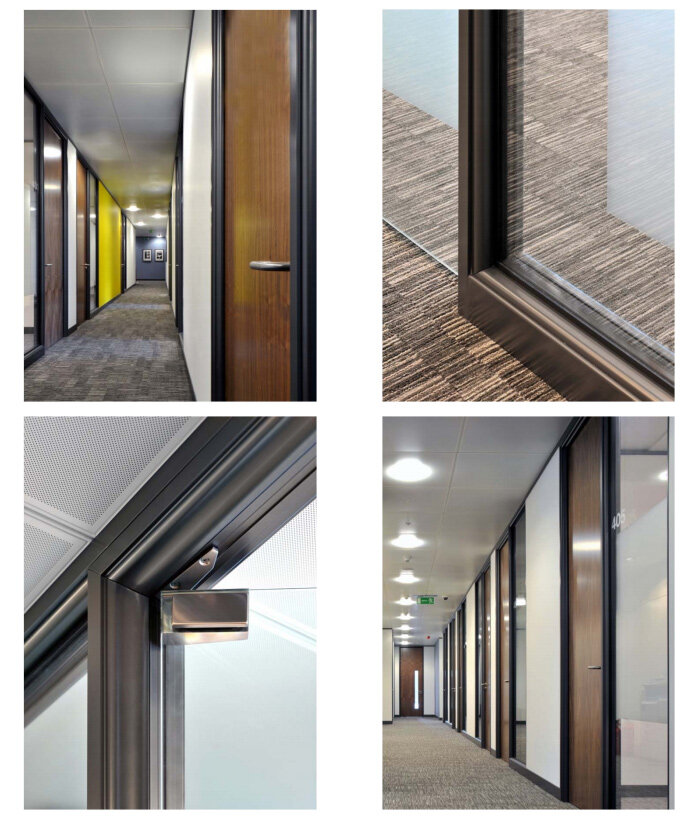 SAS System 4000 Double Glazed Glass Office Partitioning System ...