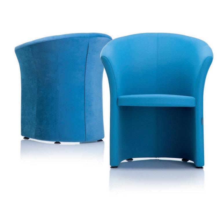 VIZZ Tub Reception Chair Mustard Yellow Fabric - HuntOffice.co.uk