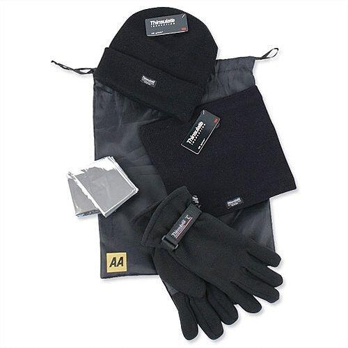 AA Winter Warmer Kit of Hat/Gloves/Neck-Warmer and Foil Blanket Ref 5060114613140