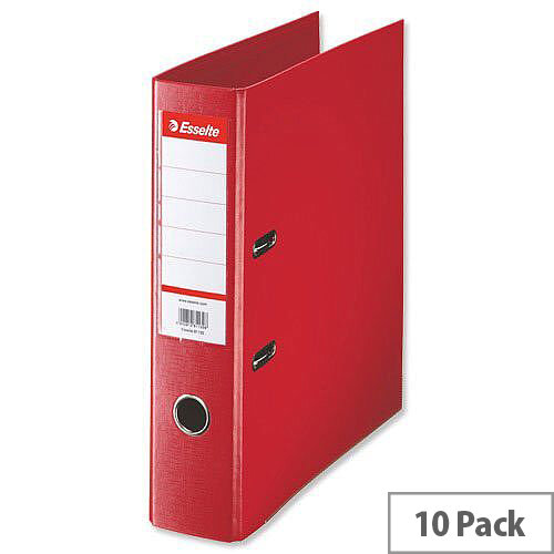 Esselte Lever Arch File A4 Red Pack 10