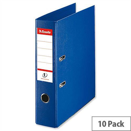 Esselte Lever Arch File A4 Blue Pack 10