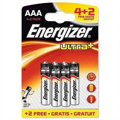 Energizer Ultra Plus AAA Batteries Pk 4 Plus 2