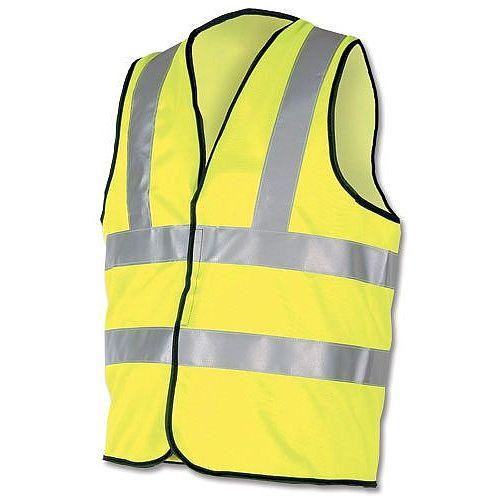 Proforce High Visibility Vest 2-Band Waistcoat Yellow Medium HV08YL400