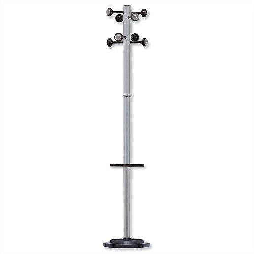 Accueil Coat Stand Solid Head Steel Post Umbrella Stand Metal Grey 35061M