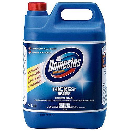 Domestos Professional Original Bathroom Thick Bleach 5L Container 24hr Protection