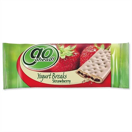 GoAhead Yogurt Biscuit Bar Strawberry Pack 24