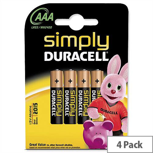 Duracell MN2400 AAA Battery Pack 4
