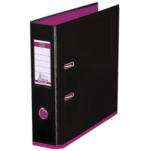 Elba MyColour Lever Arch File Polypropylene A4 Black and Pink