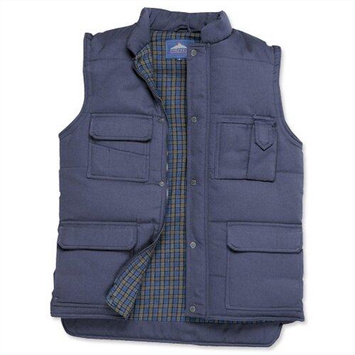 Portwest Body Warmer Vest Polyester & Cotton 2-Pockets Navy Medium Ref S414NAVYMED
