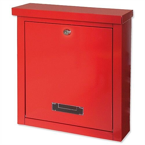 Rottner Brighton Mail Box Opening Suitable for A4 Documents W400xD155xH310mm Red T04504
