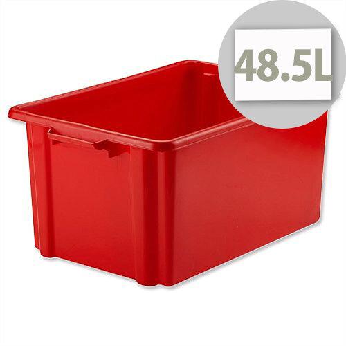 Strata Storemaster Jumbo Crate Red 48.5 Litres