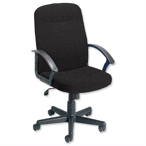 Elegant Managers Office Chair With Arms Charcoal High Back Trexus