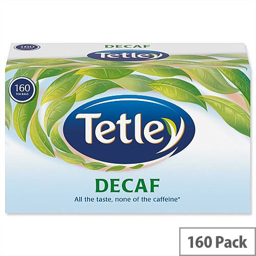 Tetley Tea Bags Decaffeinated High Quality Pack 160 539702