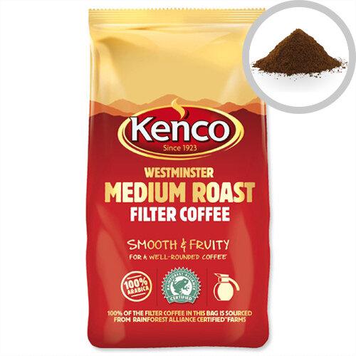 Kenco Westminster Medium Roast Ground Filter Coffee 1kg Pack of 1 24174