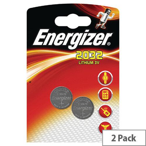 Energizer CR2032 Battery Lithium 3V Pack 2