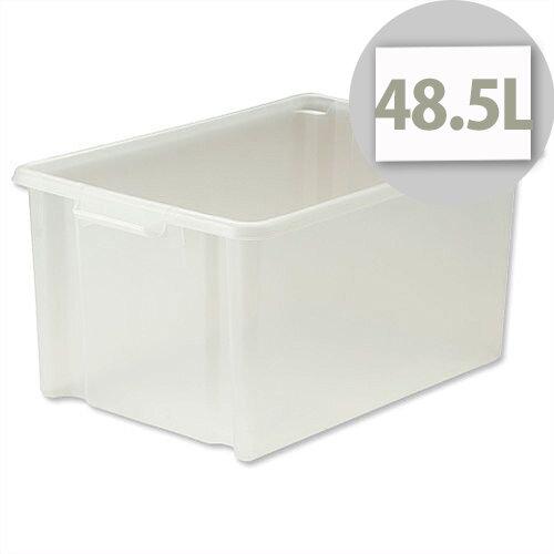 Strata Storemaster Translucent Jumbo Crate 48.5 Litres