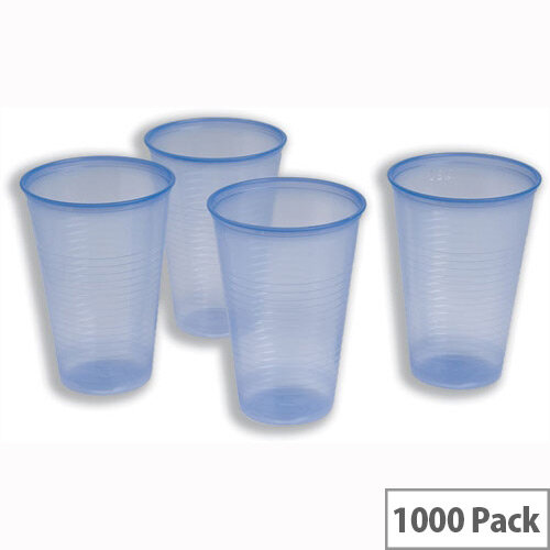 Cold Drink Disposable Cups Blue Polystyrene 7oz/200ml [Pack of 1000]
