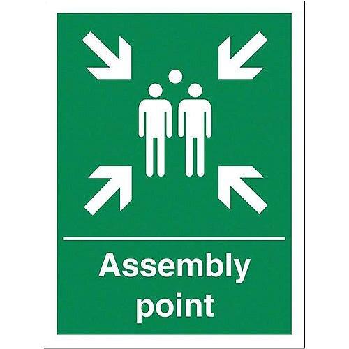 stewart superior fire assembly point sign 150x200mm. Black Bedroom Furniture Sets. Home Design Ideas