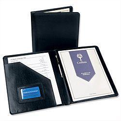 Deluxe Portfolio Black Leather W245xH320mm 5120C