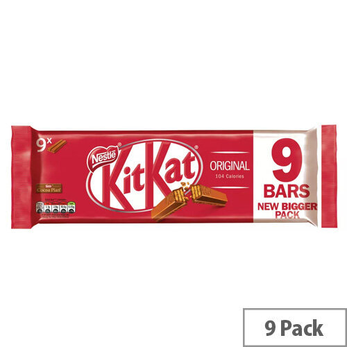 Nestle Kit Kat Milk Chocolate Bars 2 Finger Bars [Pack of 8]