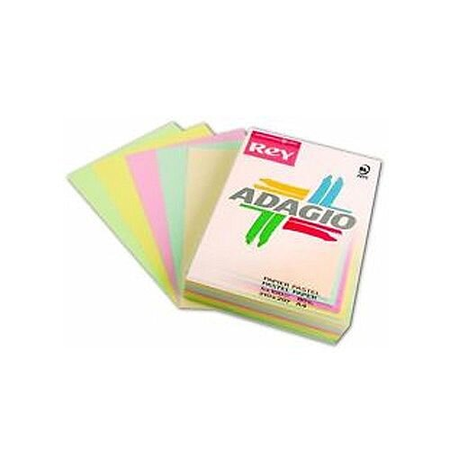 Adagio Card A4 160gsm Assorted Pastel (Pack of 250)