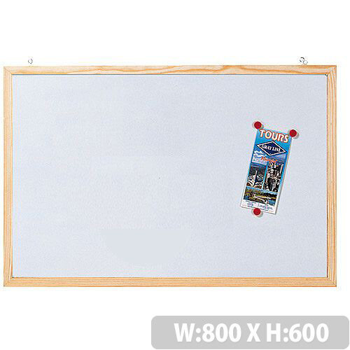 Franken CC-MM6080 E whiteboard with wooden frame. Size 80 x 60 cm ...