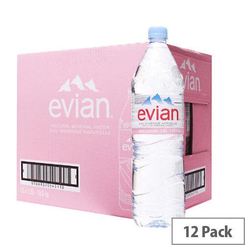 Evian Mineral Water 1.5 Litre Bottle Pack 12