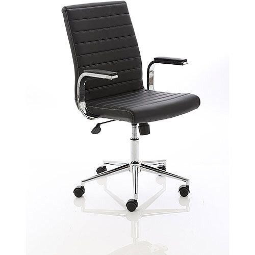 Ezra Executive Black Leather Office Chair